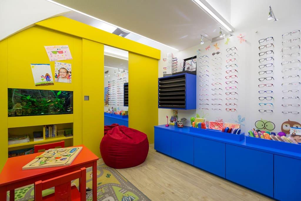 Kinderbrillenreich bei Optik Buffa